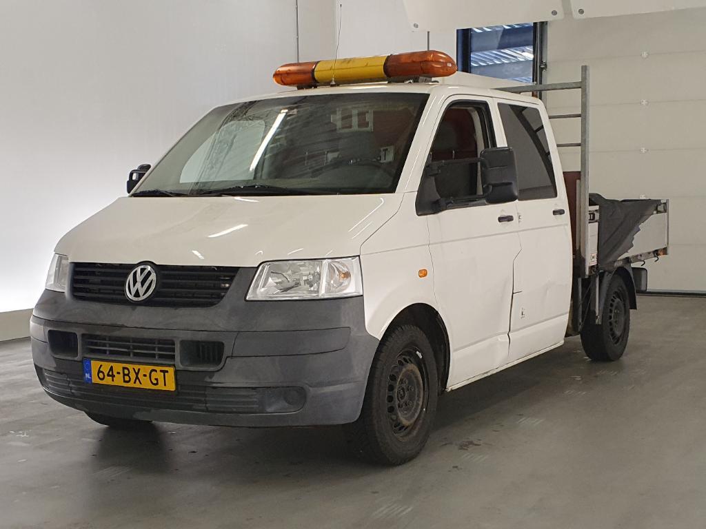Volkswagen TRANSPORTER  1.9 TDI 340 DC Pick-up met Hiab Laadkraan